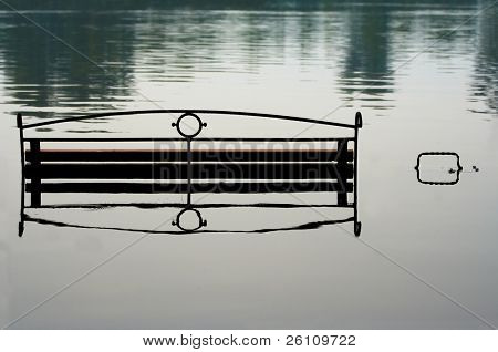 bench in river