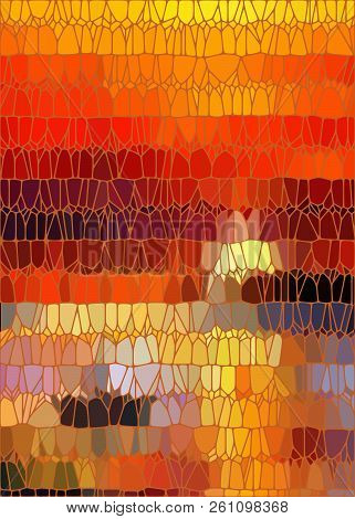 Stained Glass Like Background With Autumn Leaves Mosaic