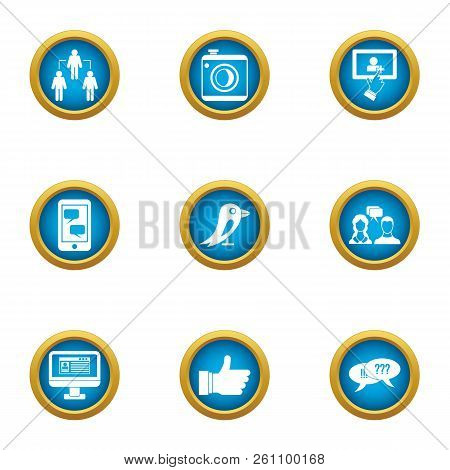 Message Exchange Icons Set. Flat Set Of 9 Message Exchange Vector Icons For Web Isolated On White Ba