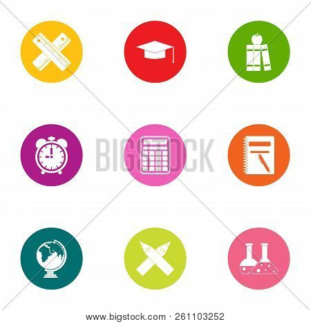 Valuable Knowledge Icons Set. Flat Set Of 9 Valuable Knowledge Vector Icons For Web Isolated On Whit