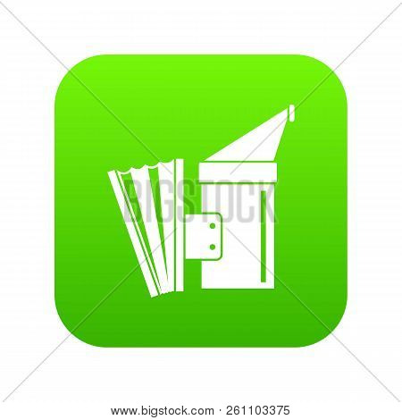 Fumigation Icon Digital Green For Any Design Isolated On White Vector Illustration