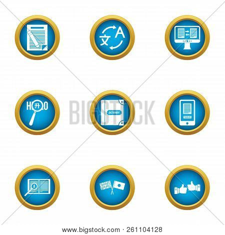 Idiom Icons Set. Flat Set Of 9 Idiom Vector Icons For Web Isolated On White Background