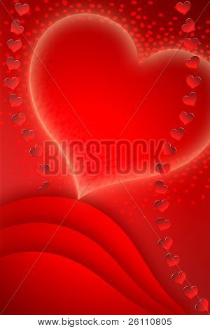 love post card for red-letter Valentine's day