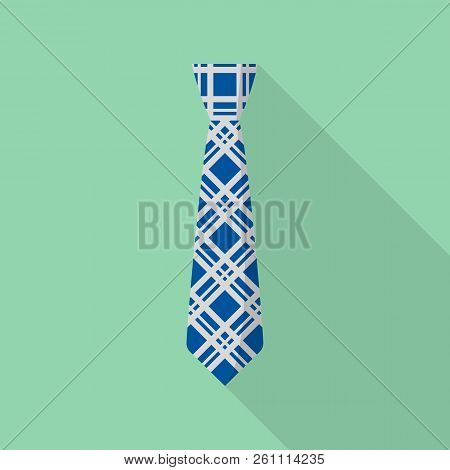 Hipster Tie Icon. Flat Illustration Of Hipster Tie Vector Icon For Web Design