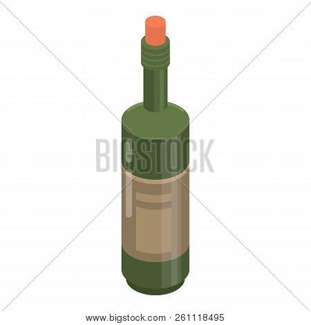 Cabernet Bottle Icon. Isometric Of Cabernet Bottle Vector Icon For Web Design Isolated On White Back