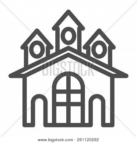 Fort Line Icon. Castle Vector Illustration Isolated On White. Stronghold Outline Style Design, Desig
