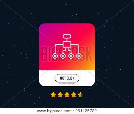 Restructuring Line Icon. Business Architecture Sign. Delegate Symbol. Web Or Internet Line Icon Desi
