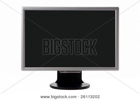 Plasma-tv mit schwarzer Bildschirm isolated over white