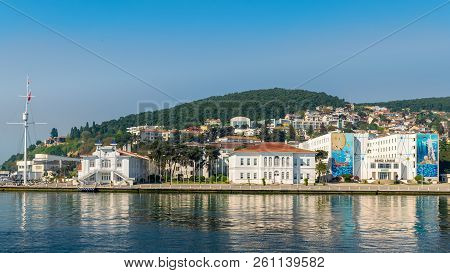 Istanbul, Turkey - April 27, 2017: Naval High School, Located On Heybeliada Island (the Second Large