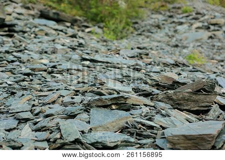 Rocky Trail In Mountainous Terrain During The Day For Travelers, Hiking In The Open Air, In Summer O