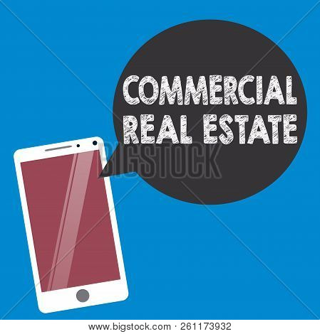 Conceptual Hand Writing Showing Commercial Real Estate. Business Photo Text Income Property Building