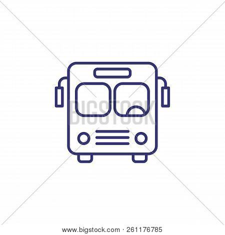 Bus Line Icon. School Bus, Tour, Bus Station. Transport Concept. Vector Illustration Can Be Used For