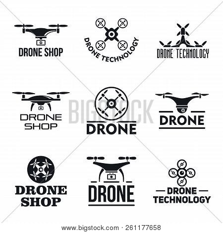 Drone Logo Set. Simple Set Of Drone Vector Logo For Web Design On White Background