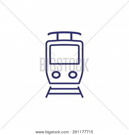 Tram Line Icon. Train, Tram Station, Public Transport. Transport Concept. Vector Illustration Can Be