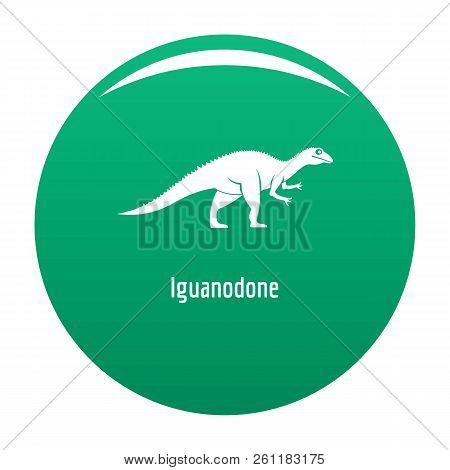 Iguanodone Icon. Simple Illustration Of Iguanodone Vector Icon For Any Design Green