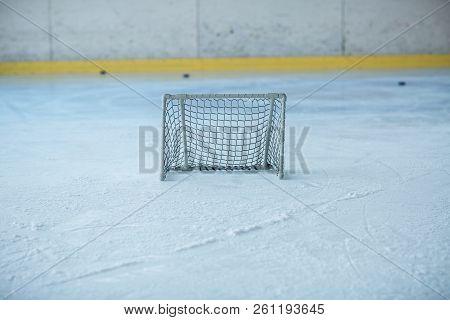 Ice Hockey Empty Training Small Net Nobody