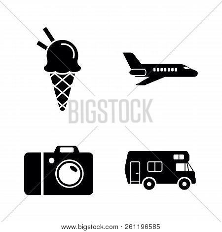 Vacation, Travel, Journey . Simple Related Vector Icons Set For Video, Mobile Apps, Web Sites, Print