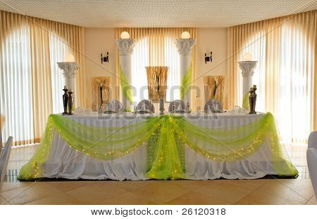 Head Table For The Newlyweds.
