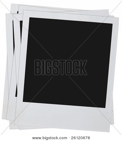 Blank  photos isolated on a white background