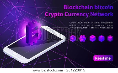Isometry Icon Blockchain Bitcoin Crypto Currency Network, Analysts And Managers Working On Crypto St