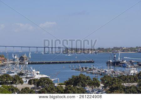 Coronado Bridge San Diego, California Harbor View