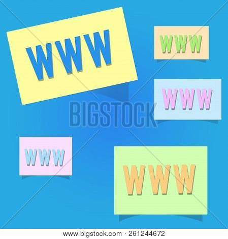 Conceptual Hand Writing Showing Www. Business Photo Showcasing Network Of Online Content Formatted I