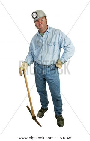 Coal Miner - Leaning On Pickax