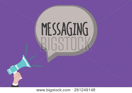Handwriting Text Messaging. Concept Meaning Communication With Others Through Messages Texting Chatt
