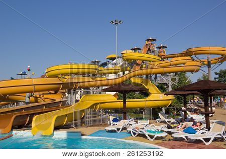 Anapa, Russia - August 5, 2017: Water Park