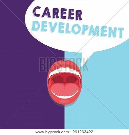 Handwriting Text Writing Career Development. Concept Meaning Lifelong Learning Improving Skills To G