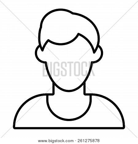 Man Faceless Avatar Thin Line Icon. Default Profile Vector Illustration  Isolated On White. Male 22a06cd4c262