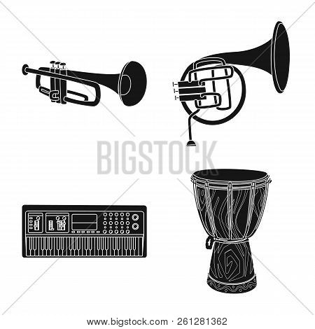 Vector Illustration Of Music And Tune Symbol. Collection Of Music And Tool Vector Icon For Stock.