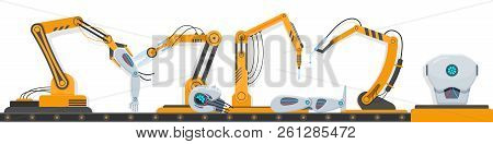 Complex Industrial Equipment Robots, Robotic Equipment, For Assembling Human Robot.