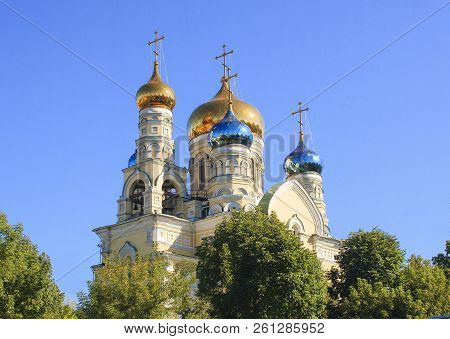 Orthodox Christian Pokrovsky Temple. Vladivostok City. Russia.