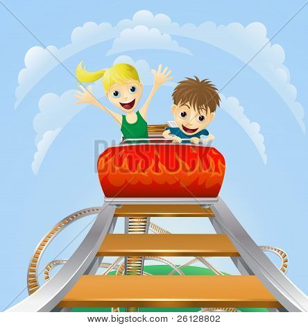Thrilling Roller Coaster Ride