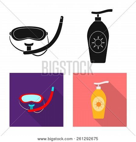 Isolated Object Of Pool And Swimming Logo. Collection Of Pool And Activity Stock Vector Illustration