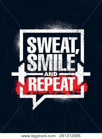 Sweat Smile Repeat Vector Photo Free Trial Bigstock