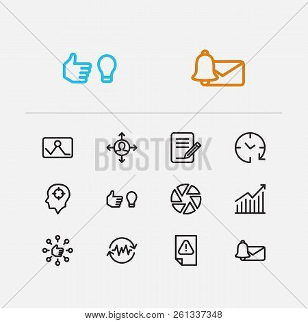 Task Icons Set. Email Alert And Task Icons With Work Smarter, Drop In Productivity And Get In Routin