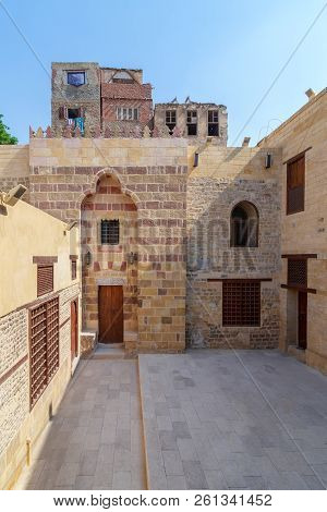 Exterior Facade Of Mosque Of Tekkeyet Al Bustami, Dar El Labbana District, Cairo, Egypt