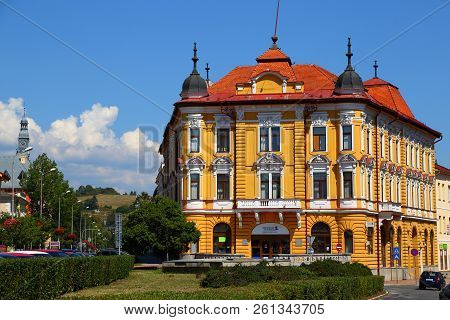07.08.2018.  Ancient City  Banska Bystrica. Central Slovakia. Old Town, The Main Square With Histori
