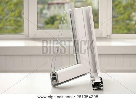 Sample Of Modern Window Profile On Table Indoors