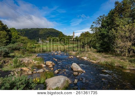 Glendalough Is A Village With A Monastery In County Wicklow, Ireland. The Monastery Was Founded In T