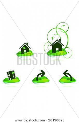 Green House Web Icons.