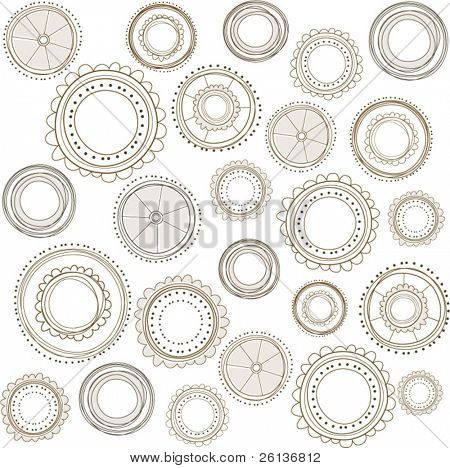 Rustic Background Pattern with Circles