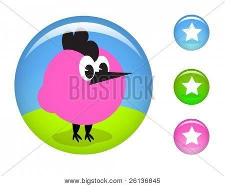Glossy Chicken Button