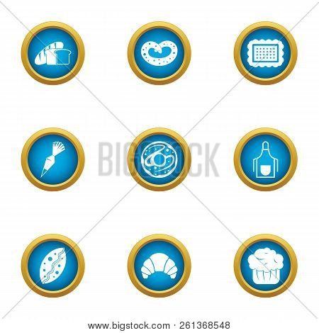 Flapjack Icons Set. Flat Set Of 9 Flapjack Vector Icons For Web Isolated On White Background