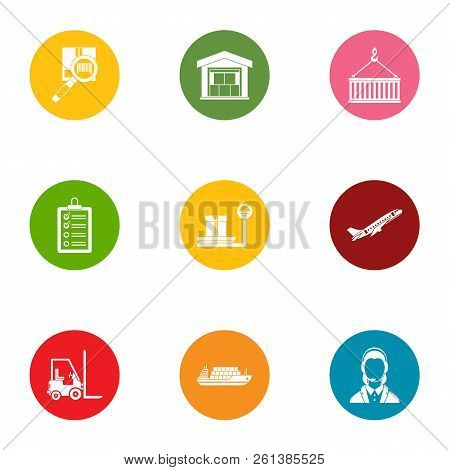 Loader Staff Icons Set. Flat Set Of 9 Loader Staff Vector Icons For Web Isolated On White Background