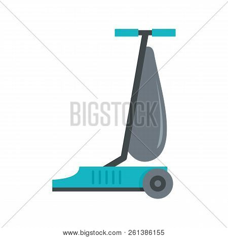 Commercial Vacuum Cleaner Icon. Flat Illustration Of Commercial Vacuum Cleaner Icon For Web Design