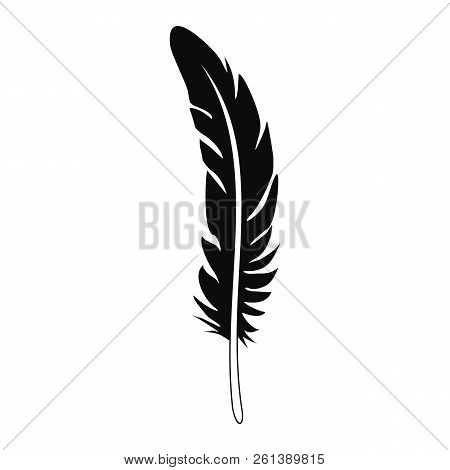 Plume Feather Icon. Simple Illustration Of Plume Feather Vector Icon For Web Design Isolated On Whit
