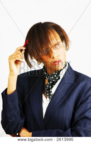 Business Woman Preparing For Action